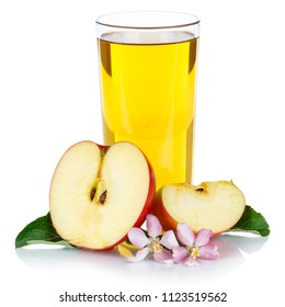 Apple juice apples fruit fresh fruits glass square isolated on a white background