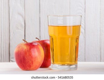 apple juice on a white background