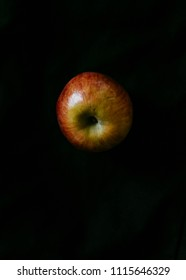 apple on black