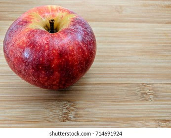 apple on a cutting board