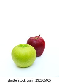 apple on white background