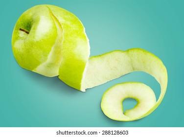 Apple, Peel, Peeled.