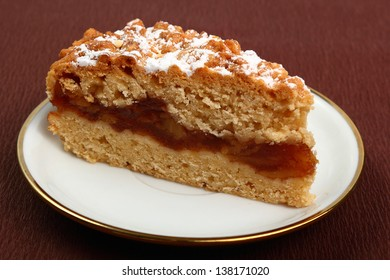 Apple pie with cinnamon. Two crust apple pie made with shortcrust pastry.