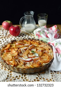 Apple pie with cottage cheese
