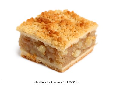 Apple Pie. Double crust apple pie with cinnamon made with shortcrust pastry.