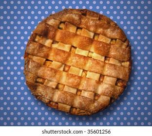 Apple Pie on a polka dot table cloth