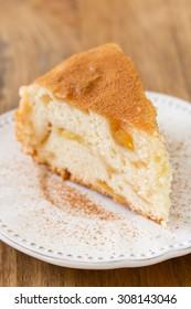 apple pie on white plate