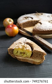 Apple pie. a rustic style.