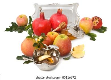 apple ,pomegranates and honey for Rosh Hashana– jewish new year