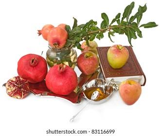 apple ,pomegranates with honey for Rosh Hashana– jewish new year