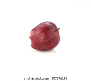 Apple Red with condensation. Place on a white background