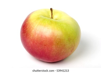 Apple, red, yellow and green, isolated on white, clipping path included