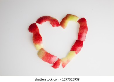 apple shells heart sign - Valentine's Day