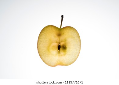 apple slice lit from the back