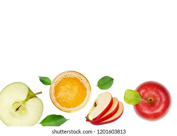 apple with slices and juice glass wallpaper