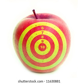 Apple with target on it