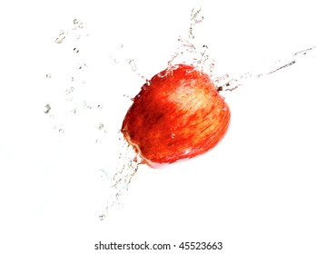 apple and the water