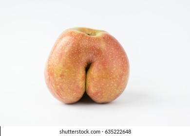 Apple without a tail looks like a human butt