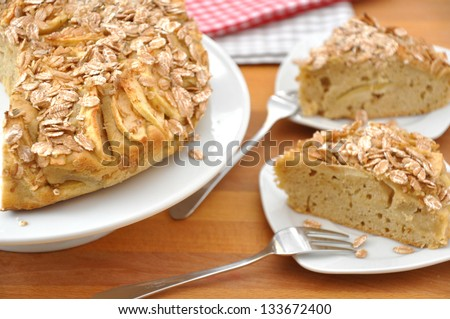 Applepie with rolled oats