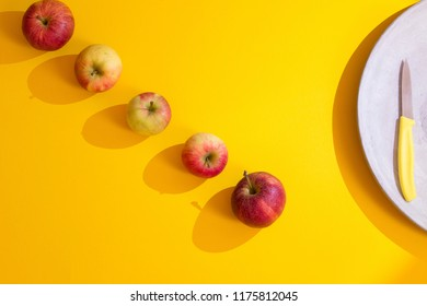apples, with copy-space