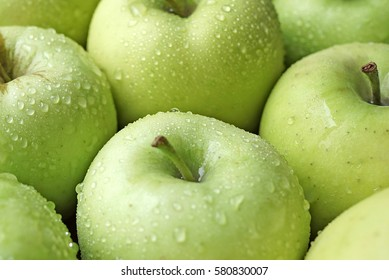 Apples green Golden Delicious Malus domestica Grimes Golden Golden Reinette Woods Greening