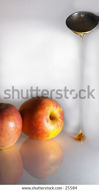 Apples with honey - a symbol of the Jewish New Year