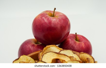 Apples on top of apple chips