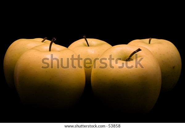 Apples painted with light