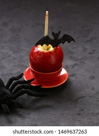 apples in red caramel for holiday treats