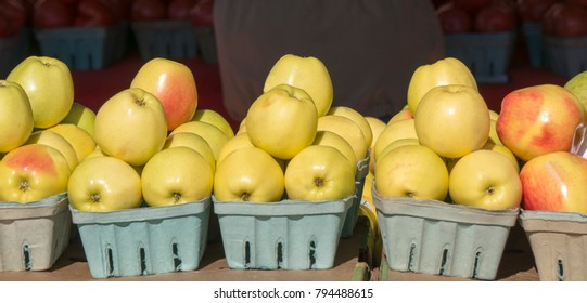 Apples for sale at a local farmers market in St. Pete Beach, Florida