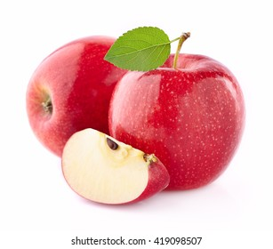Apples with slice