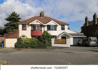 Appleton, Cheshire, England, UK. 7 September 2017. Semi-detached houses.