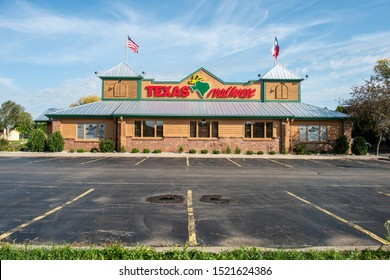 Appleton, WI -  24 September 2019: Texas Roadhouse steak house during sunrise that serves great steak and other food.