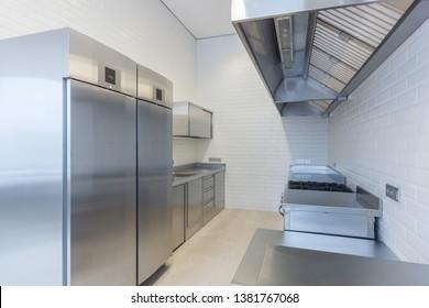 Appliances for food preparation. Double-door refrigerator.
