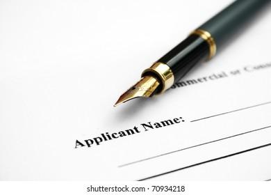 Applicant name signature