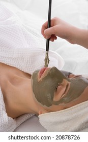 application of clay mask