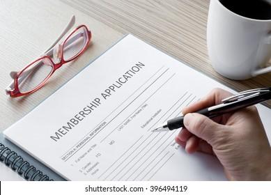 application form membership