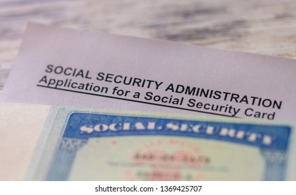 Application form for a new american social security card