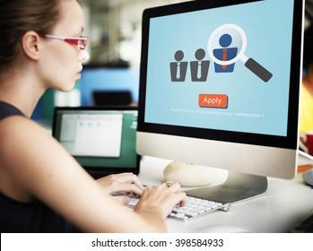 Application Occupation Profession Job Seeker Concept