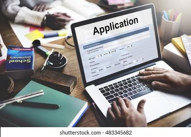 Application Online College Form Concept