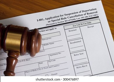 Application Suspension of Deportation or special rule cancellation of removal