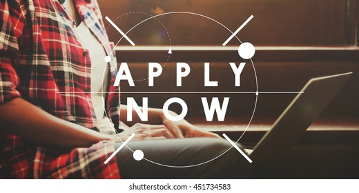 Apply now Apply Here Hiring Resources Register Concept