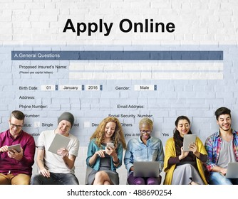 Apply Online Application College Form Concept