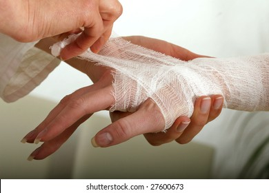 Bandaged Hand Images, Stock Photos & Vectors | Shutterstock
