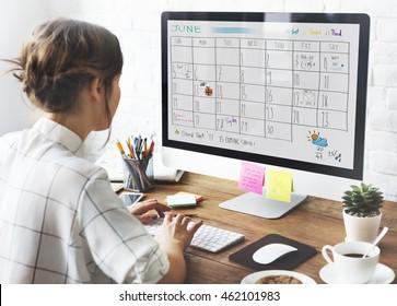 Appointment Agenda Calendar Meeting Reminder Concept