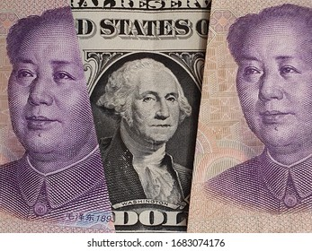 approach to american one dollar bill and Chinese banknotes