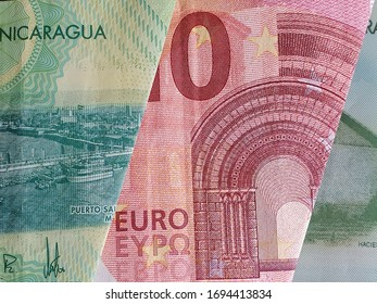 approach to european banknote and Nicaraguan bills
