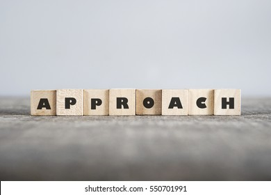 APPROACH word made with building blocks