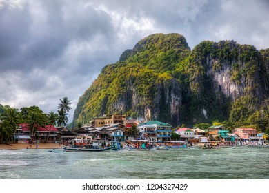 Approaching the City of El Nido, Palawan, Philippines