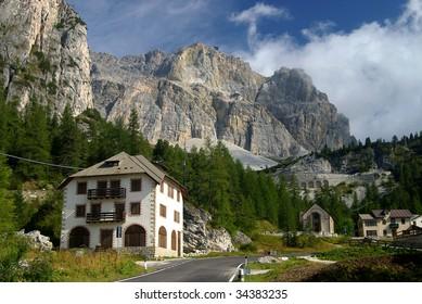 Approaching the Falzarego Pass, Italy